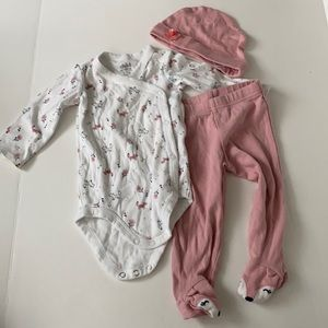 Child of mine fox outfit set 6-9 months